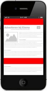 Adverteren bij Eisma Mobile banner